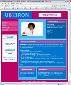 Your own ironing service website